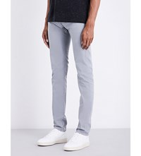 Ag Jeans Stockton Slim Fit Skinny Cotton Trousers Cloud Grey