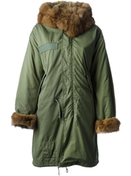 Liska Fur Trimmed Parka Green