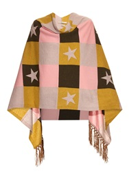 Queene And Belle Star Cashmere Poncho
