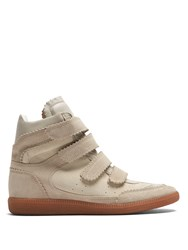 Isabel Marant Bilsy Concealed Wedge Suede Trainers Cream