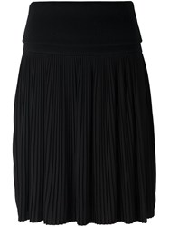 Givenchy Pleated Knee Length Skirt Black