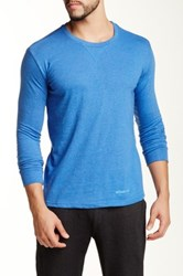 Bottoms Out Crew Neck Long Sleeve Tee Blue