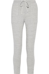 James Perse Cotton Terry Track Pants Light Gray