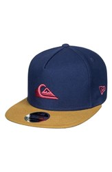 Quiksilver X New Era Stuckles Snapback Cap Blue Navy Blazer