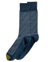 Gold Toe Men's Japanese Waves Socks Storm Blue