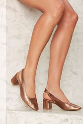 Intentionally Blank Hester Leather Heel Bronze Metallic