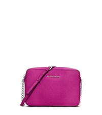 Michael Kors Jet Set Travel Large Saffiano Leather Crossbody Fuchsia