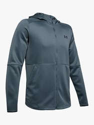 Under Armour Mk 1 Warm Up Full Zip Training Hoodie Wire Black