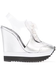 Ruthie Davis High Heeled Sneakers Women Leather Kid Leather Rubber 38 Metallic