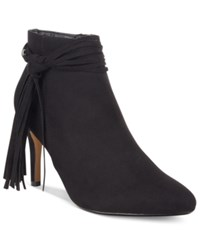 Thalia Sodi Alta Fringe Booties Only At Macy's Women's Shoes Black