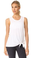 Beyond Yoga All Tied Up Racerback Tank White