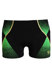 Speedo Swimming Shorts Black Fluo Green Global Gold
