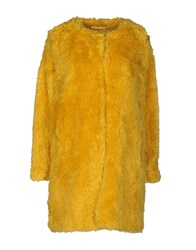 M.Grifoni Denim Coats And Jackets Faux Furs Yellow