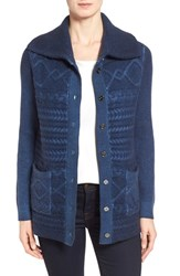 Women's Nordstrom Collection Wool And Cashmere Cable Knit Cardigan