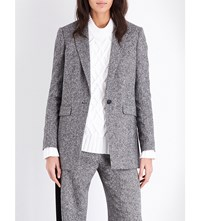 Rag And Bone Ronin Stretch Wool Blazer Black White