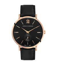 Reiss Larsson And Jennings Watch Leather Strap Lugano Jura 38Mm Watch In Black Gold Black Gold