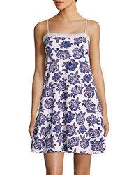 Lord And Taylor Lace Accented Sleep Chemise Watercolor