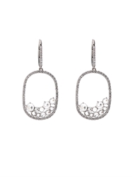 Susan Foster Diamond And White Gold Drop Earrings