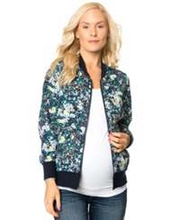 A Pea In The Pod Maternity Printed Bomber Jacket Floral
