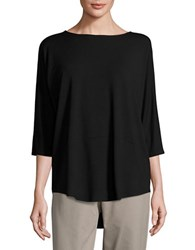 Eileen Fisher Boatneck Jersey Top Black