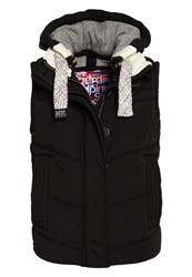 Superdry Chevron University Gilet Black