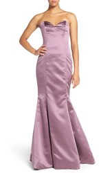 Hayley Paige Occasions Women's Strapless Satin Trumpet Gown Wisteria
