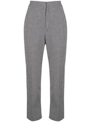Veronica Beard Cropped Check Trousers 60
