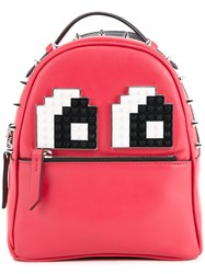 Les Petits Joueurs Baby Mick Eyes Backpack Red