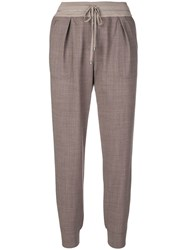 Lorena Antoniazzi Tapered Trousers Brown