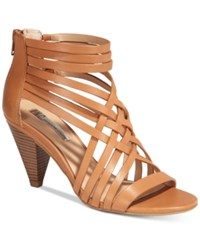 Inc International Concepts Garoldd Strappy High Heel Dress Sandals Only At Macy's Women's Shoes Golden Cognac