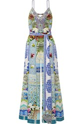 Camilla My Marjorelle Embellished Printed Silk Crepe De Chine Jumpsuit Sky Blue