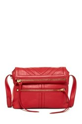 Isabella Fiore Naomi Leather Crossbody Red