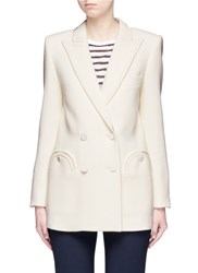 Blaze Milano 'Everyday Resolute' Wool Crepe Blazer White