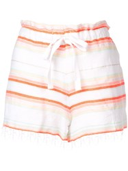 Lemlem Fiesta Striped Shorts Yellow