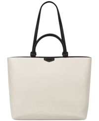 Nine West Cammie Extra Large Tote Milk Black