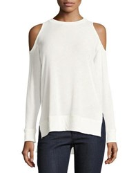 Alice Olivia Landon Cold Shoulder Sweater Off White