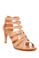 Stuart Weitzman Outbound High Leather Heel Sandal Wide Width Available Beige
