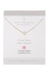 Dogeared Sterling Silver Choose Happy Mini Star Necklace Metallic
