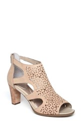 Rockport Women's Total Motion Perforated Sandal Khaki Leather