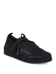 Ann Demeulemeester Side Lace Suede Sneakers Black