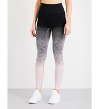 Pepper And Mayne Compression Stretch Jersey Leggings Ombre Pink