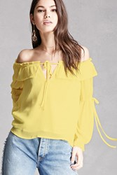 Forever 21 Off The Shoulder Peasant Blouse