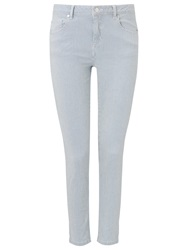 Phase Eight Victoria Stripe Cotton Jeans Indigo Ivory