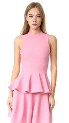 Carven Sleeveless Peplum Top Rose