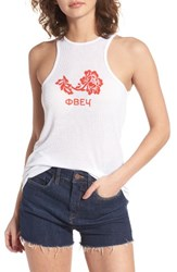 Obey Women's Flower Graphic Tank White