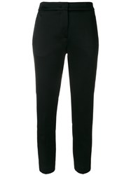 Msgm Cropped Tailored Trousers Women Polyester Acetate Viscose 42 Black