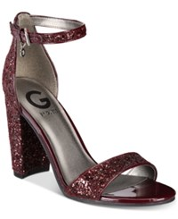 G By Guess Shantel Two Piece Sandals Wine Glitter