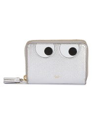 Anya Hindmarch Small Eyes Zip Around Wallet Women Leather One Size Grey