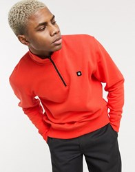 Element 92 Track 1 4 Zip Sweatshirt In Red