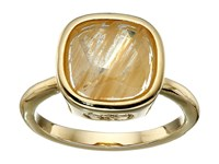 Cole Haan Cushion Cut Ring Gold Gold Rutilated Glass Ring